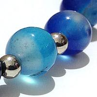 blue striped onyx agata bracelet bracelet Necklace, Natural Gemstone Jewels, natural stone healing bracelet, Beautiful natural gemstone necklace, Beautiful natural gemstone jewelry, Beautiful minerals jewelry, handmade jewelry with natural gemstones