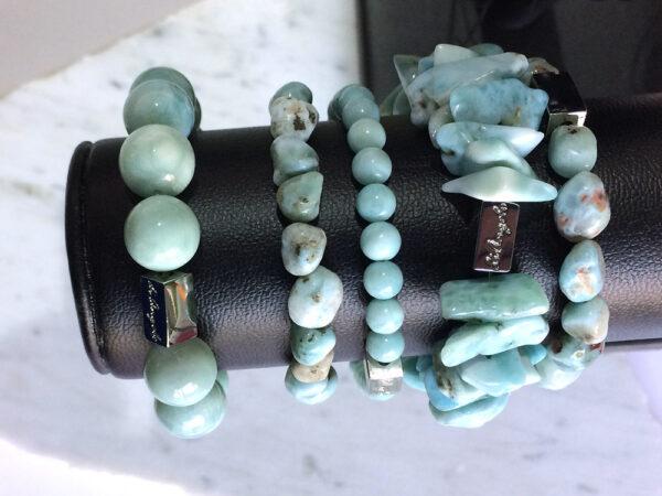 larimar bracelet Necklace, Natural Gemstone Jewels, natural stone healing bracelet, Beautiful natural gemstone necklace, Beautiful natural gemstone jewelry, Beautiful minerals jewelry, handmade jewelry with natural gemstones