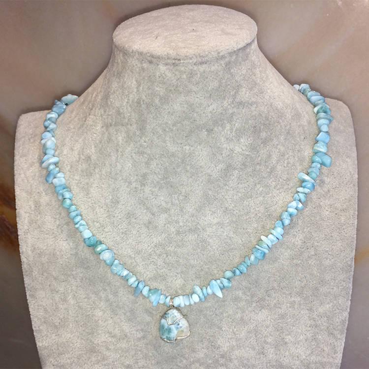 larimar Necklace, Natural Gemstone Jewels, natural stone healing bracelet, Beautiful natural gemstone necklace, Beautiful natural gemstone jewelry, Beautiful minerals jewelry, handmade jewelry with natural gemstones