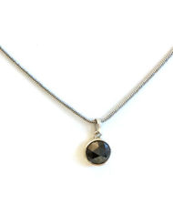 2.16Ct Fancy Black Rose Cut Natural Diamond PendentIMG_3894 ac kl