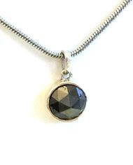 2.16Ct Fancy Black Rose Cut Natural Diamond PendentIMG_3895 ac kl